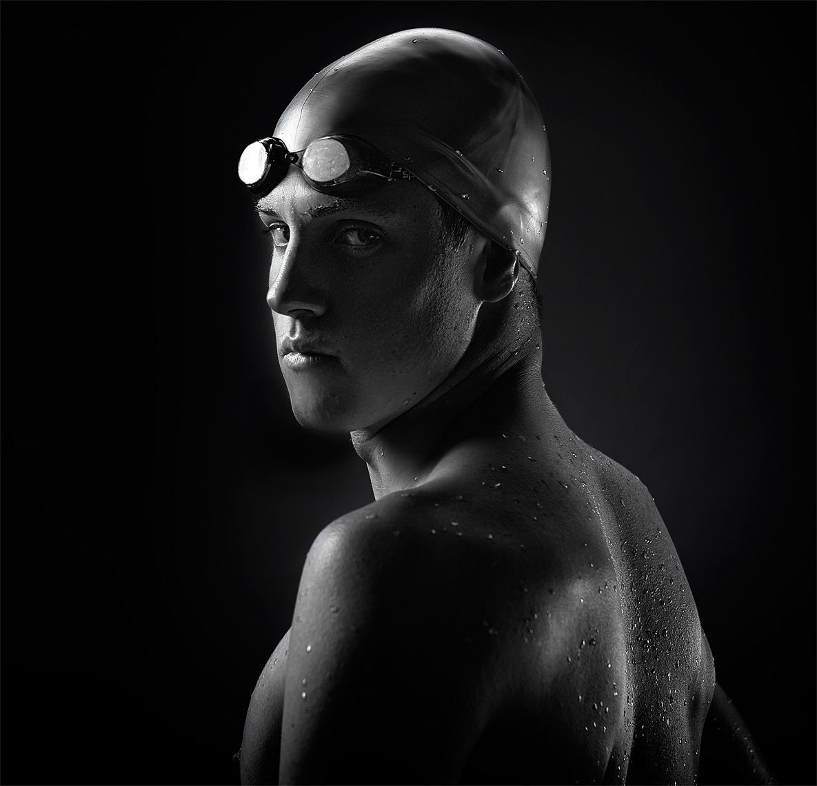black-and-white-studio-sports-portrait-for-espn-rise-swimmer-ann-arbor-editorial-photographer-scott-stewart