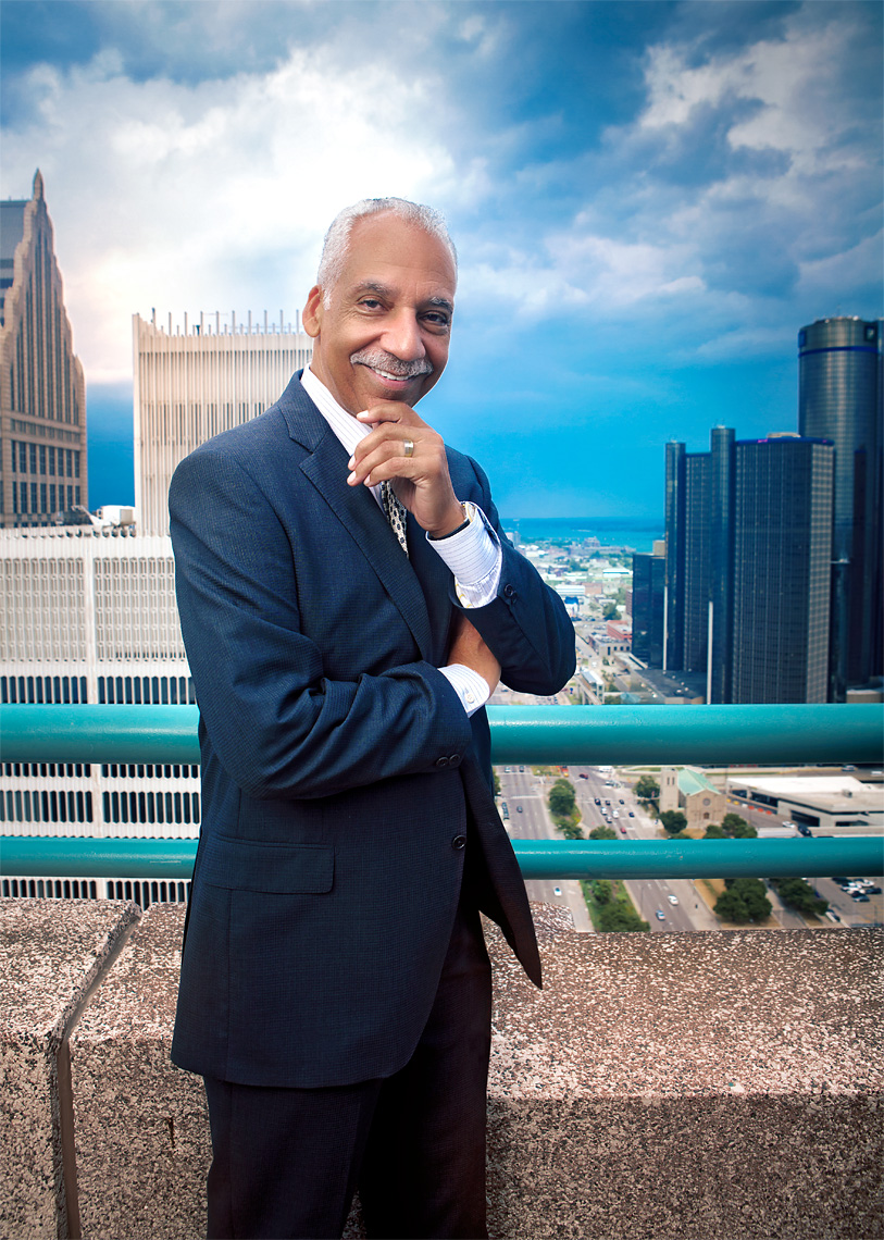 scott-stewart-editorial-portrait-of-lawyer-saul-green-in-front-of-detroit-skyline