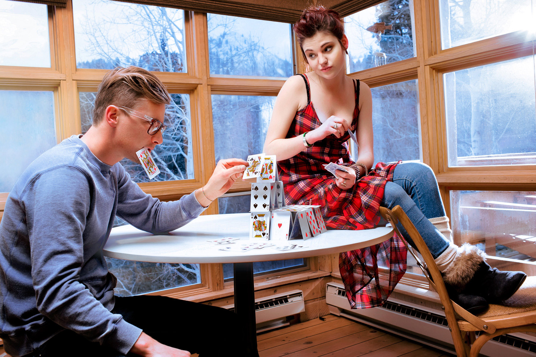 lifestyle-photo-of-couple-stacking-cards-in-ann-arbor-editorial-photographer-scott-stewart